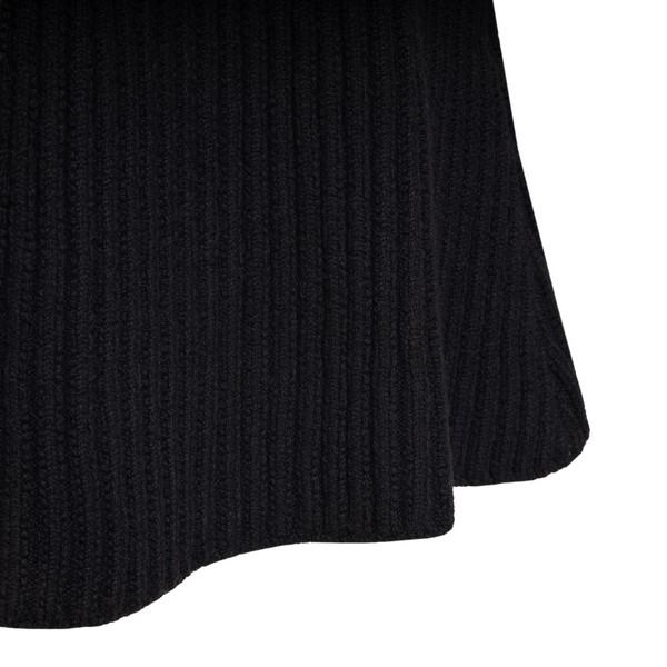 Black ribbed-knit midi skirt                                                                                                                           BOTTEGA VENETA