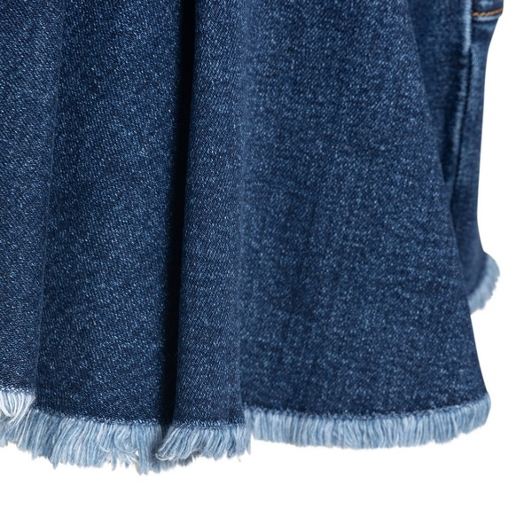 Pleated denim mini skirt                                                                                                                               ALEXANDER MCQUEEN