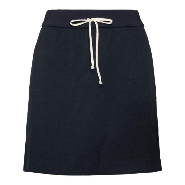 Black miniskirt with drawstring                                                                                                                       Gucci 655183 back