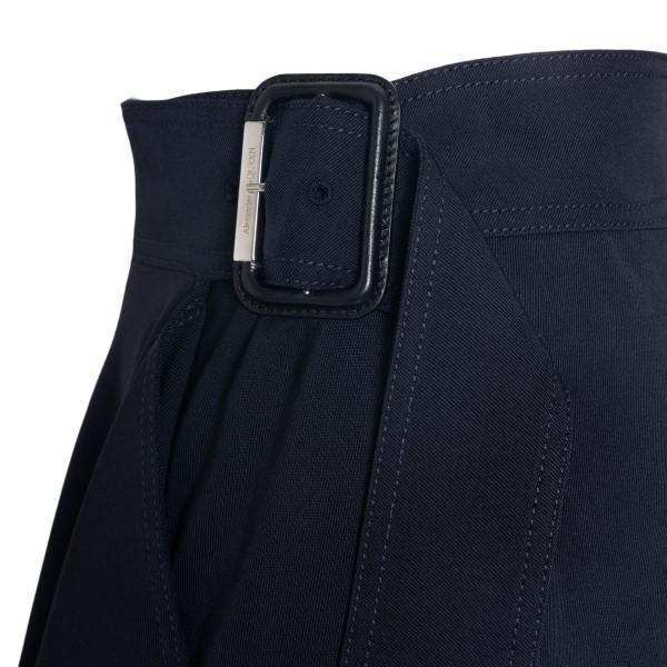 Navy blue wrap skirt                                                                                                                                   ALEXANDER MCQUEEN