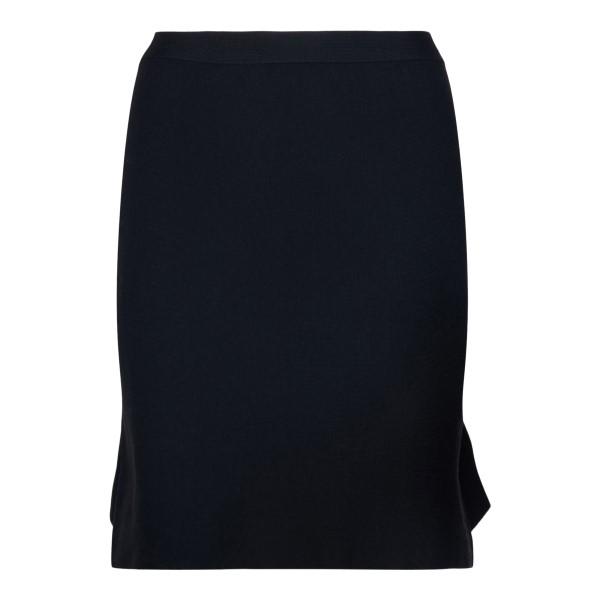 Black skirt with ruffles                                                                                                                              Bottega Veneta 666516 back