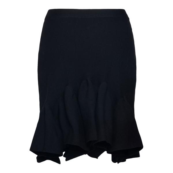 Black skirt with ruffles                                                                                                                               BOTTEGA VENETA