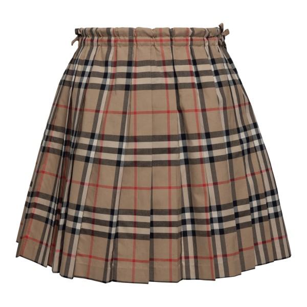 Beige checked skirt                                                                                                                                   Burberry 8012123 back