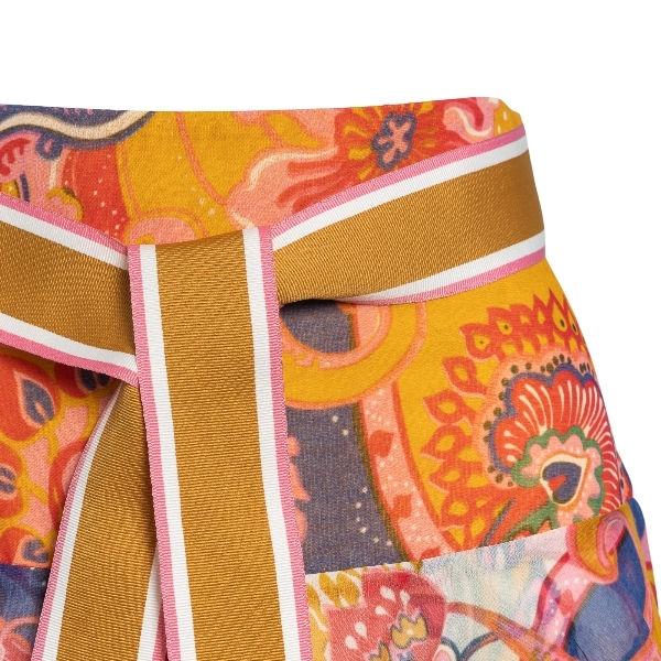 Long patterned skirt with ruffles                                                                                                                      ZIMMERMANN