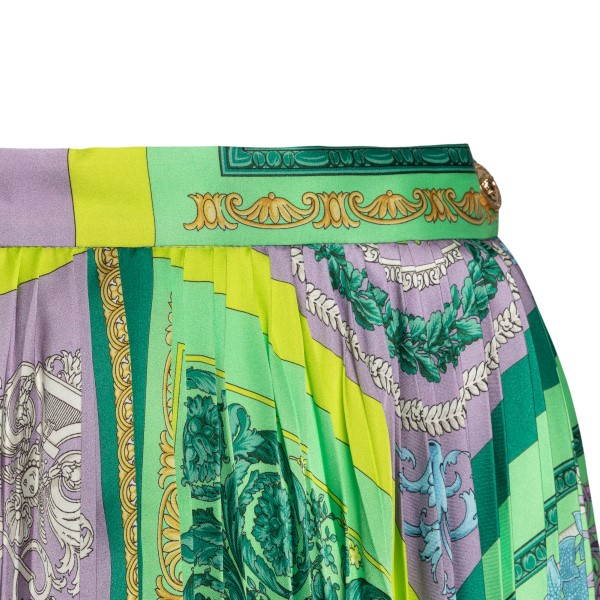 Multicolored midi skirt with Baroque print                                                                                                             VERSACE