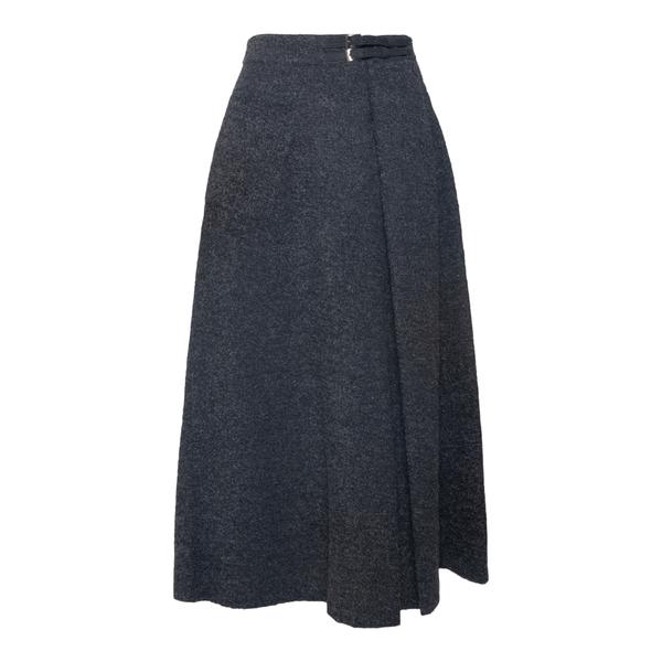 Grey midi skirt with buckles                                                                                                                           EMPORIO ARMANI