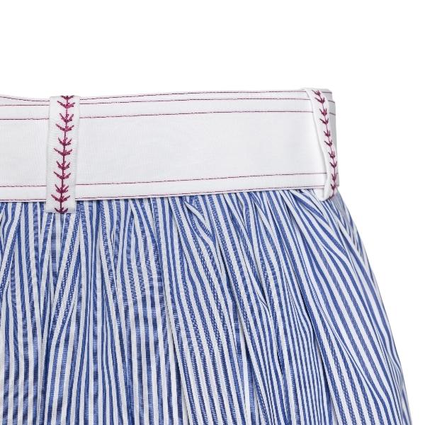 Blue striped midi skirt                                                                                                                                CHLOE'