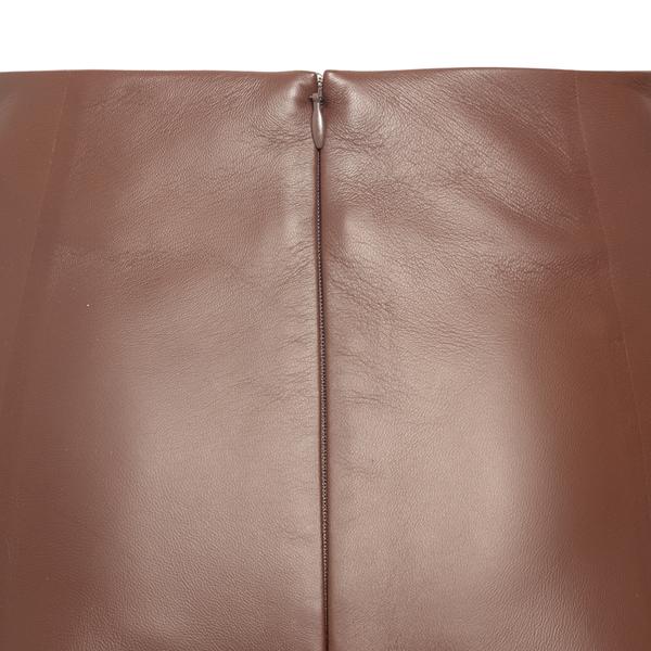 High-waisted leather skirt                                                                                                                             CHLOE'