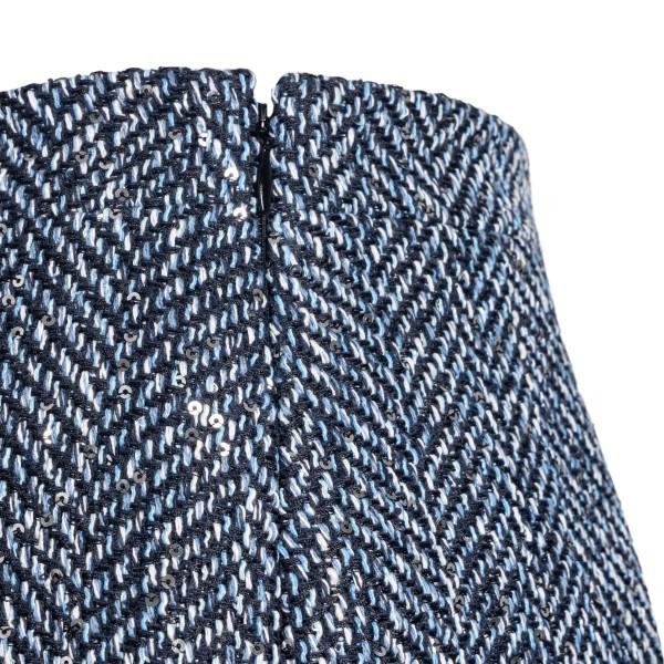 Blue sequin pencil skirt                                                                                                                               ALESSANDRA RICH
