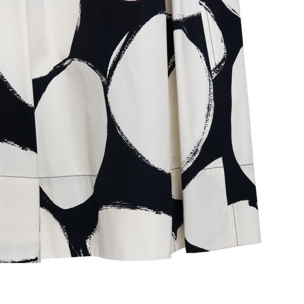 BLack and white print midi skirt                                                                                                                       MARNI
