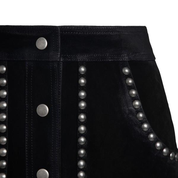 Black mini skirt with stud detail                                                                                                                      GOLDEN GOOSE