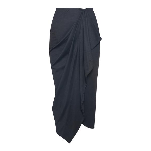 Black skirt with drapery                                                                                                                              Isabel Marant JU1369 back