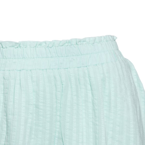 Light blue mini skirt with lace                                                                                                                        LOVE SHACK FANCY