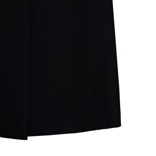 Black button-up midi skirt                                                                                                                             PRADA