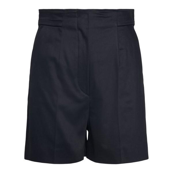 Black bermuda shorts with hidden closure                                                                                                              Sportmax PLACIDO back