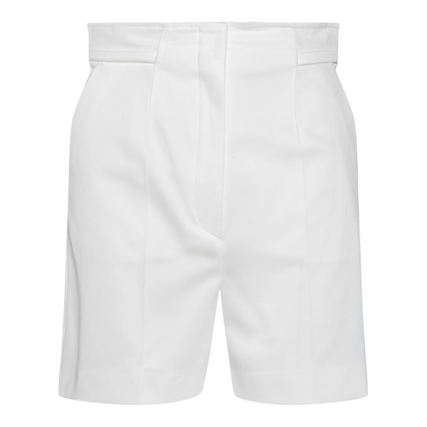 White high-waisted Bermuda shorts                                                                                                                     Sportmax PLACIDO back
