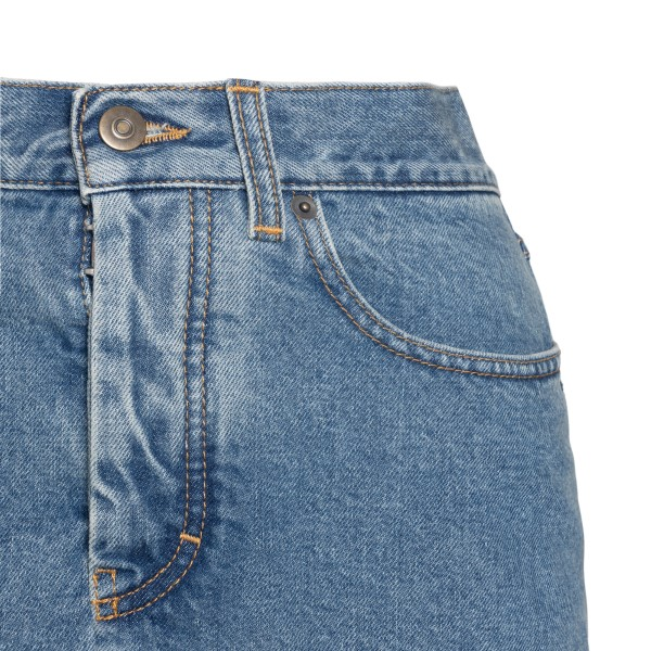 Long denim skirt with pleats                                                                                                                           MAISON MARGIELA