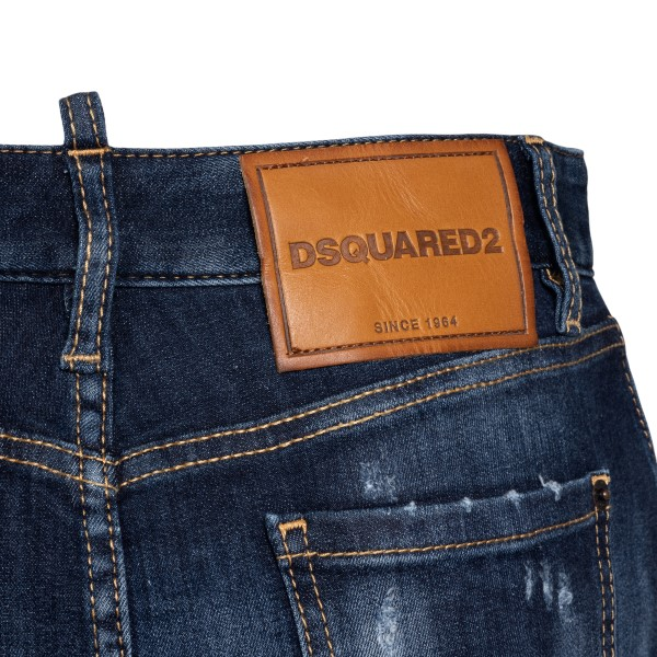 Distressed-effect denim mini skirt                                                                                                                     DSQUARED2