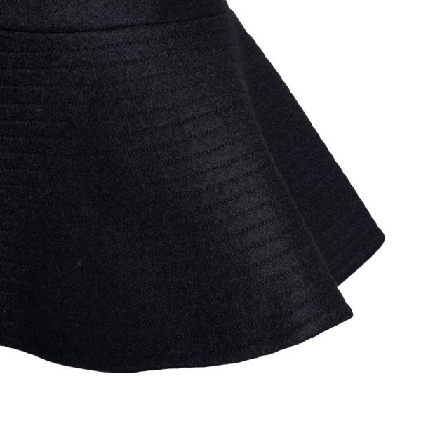 Black mini skirt with ruffles                                                                                                                          PATOU