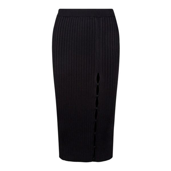 Black midi skirt with slit                                                                                                                            Sportmax SUEZ back
