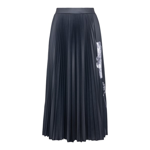 Black skirt with floral print                                                                                                                         Valentino UB0MD02K front