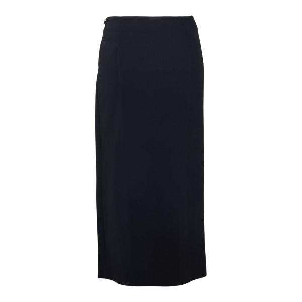 Black midi skirt with knot detail                                                                                                                      VALENTINO