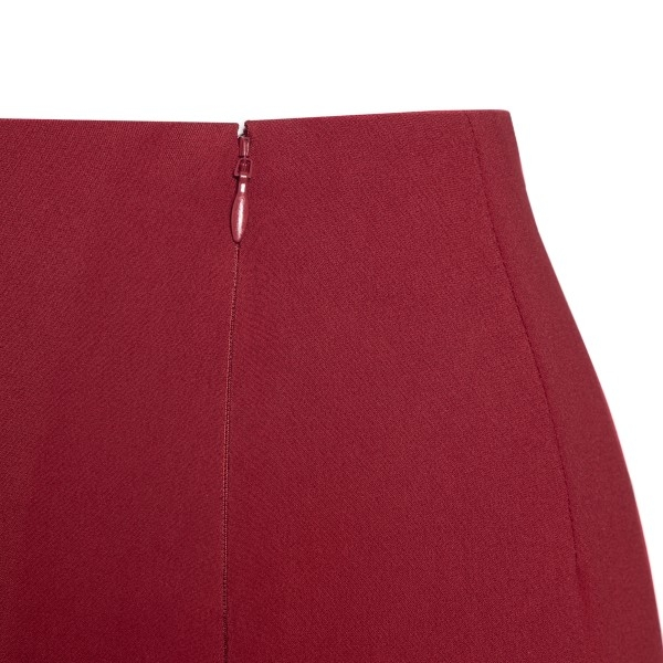 Dark red pencil skirt                                                                                                                                  VALENTINO