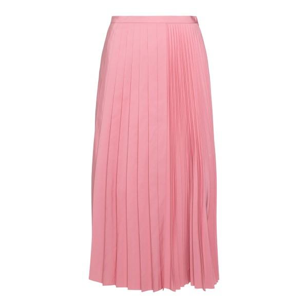 Pink pleated midi skirt                                                                                                                               Valentino WB3RA7S5 back