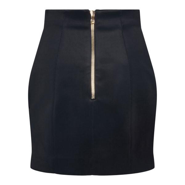 Black miniskirt with gold buttons                                                                                                                      BALMAIN