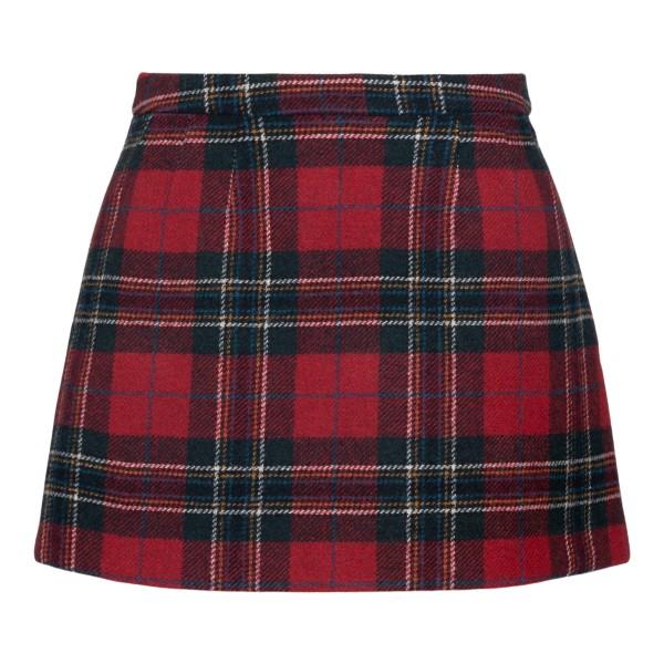 Scottish motif miniskirt                                                                                                                              Red Valentino WR3RAC25 back