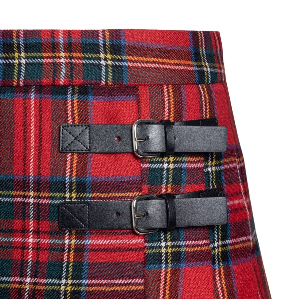 Red miniskirt in tartan pattern                                                                                                                        RED VALENTINO