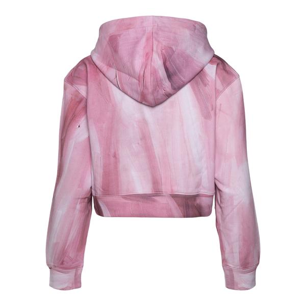 Pink crop sweatshirt with brand name                                                                                                                   MOSCHINO