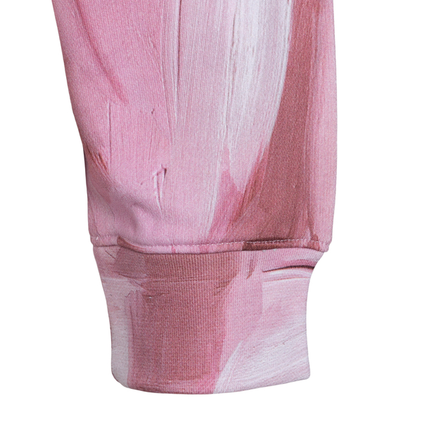 Felpa crop rosa con nome brand                                                                                                                         MOSCHINO MOSCHINO
