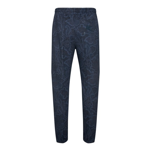 Blue paisley trousers with logo                                                                                                                        ETRO