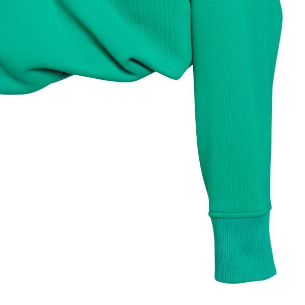 Green cropped hooded sweatshirt                                                                                                                        THE ATTICO