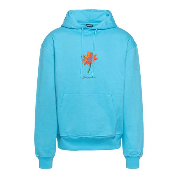 Light blue sweatshirt with flower                                                                                                                      JACQUEMUS