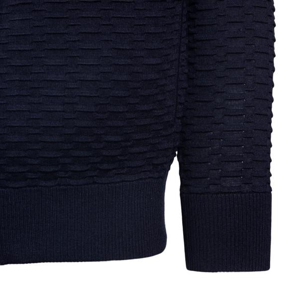 Cardigan blu con zip e cappuccio                                                                                                                       EMPORIO ARMANI EMPORIO ARMANI