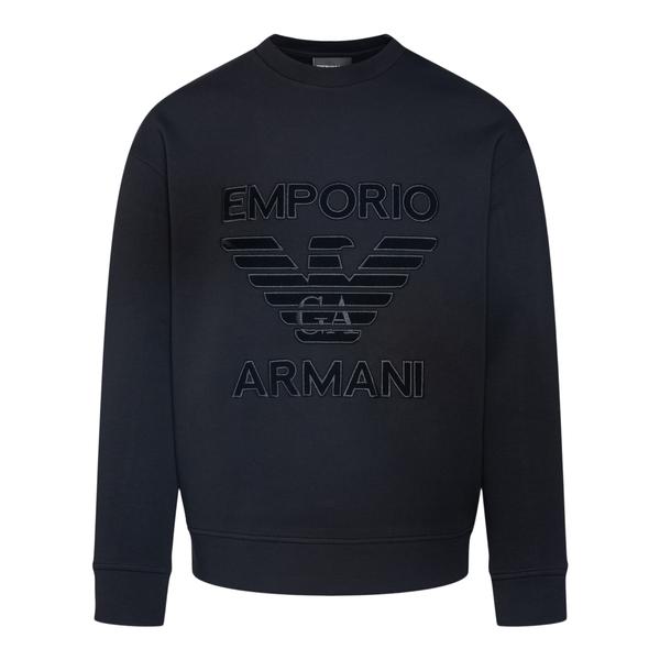 Crewneck sweatshirt with logo                                                                                                                         Emporio Armani 6K1M97 back