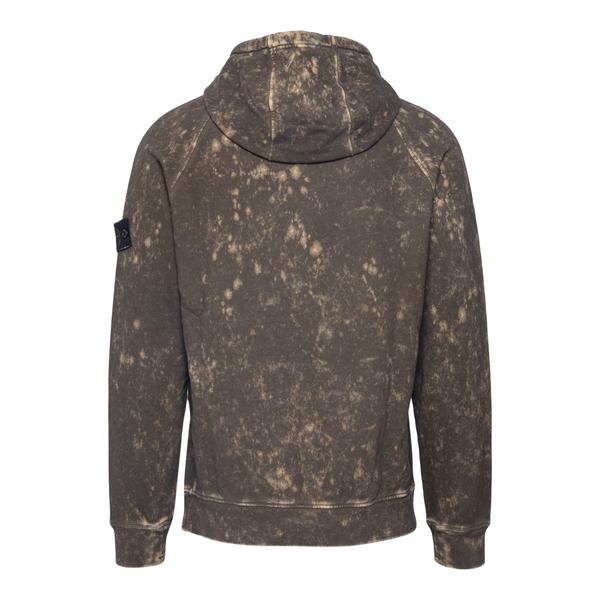 Brown sweatshirt with logo patch                                                                                                                       STONE ISLAND