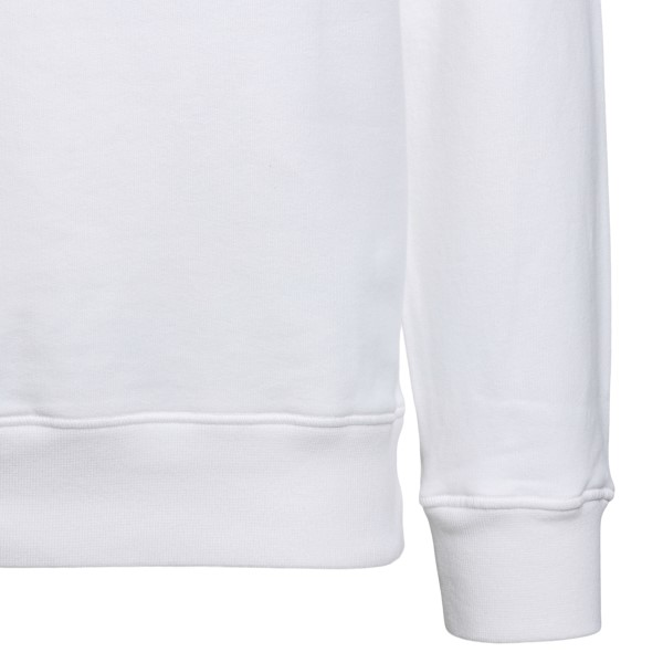 Felpa bianca con nome brand                                                                                                                            STONE ISLAND STONE ISLAND