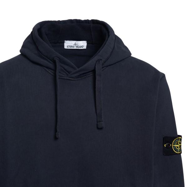 Dark blue sweatshirt with logo patch                                                                                                                   STONE ISLAND