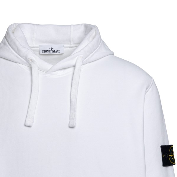 White sweatshirt with logo patch on the side                                                                                                           STONE ISLAND