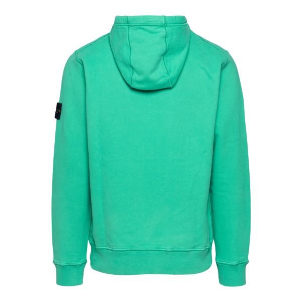 Green sweatshirt with logo patch                                                                                                                       STONE ISLAND