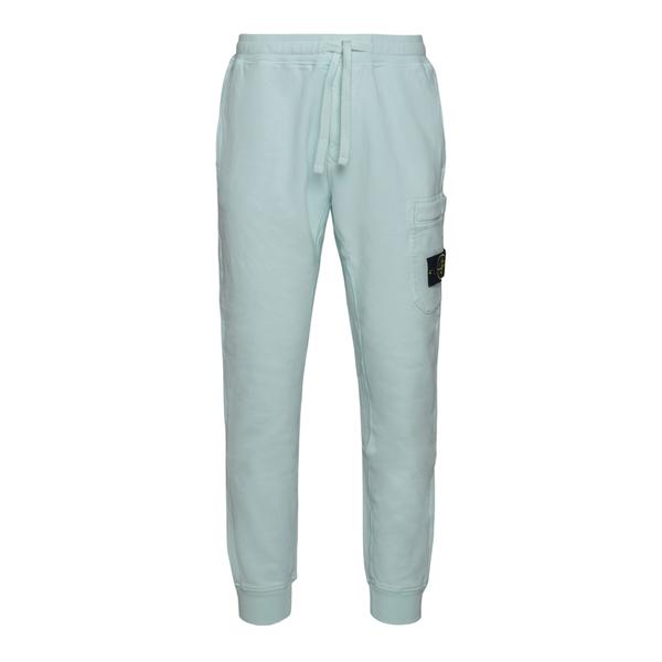 Sports pants in light mint green                                                                                                                       STONE ISLAND