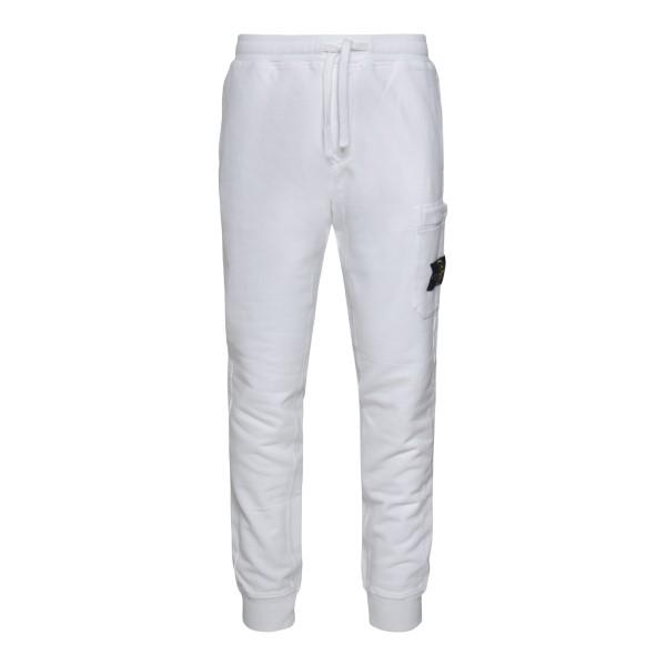 Pantaloni sportivi bianchi con logo                                                                                                                    STONE ISLAND                                       STONE ISLAND