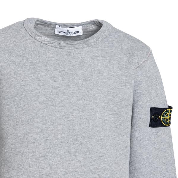 Grey sweatshirt with patch                                                                                                                             STONE ISLAND