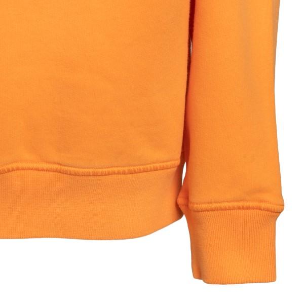 Felpa girocollo arancione con patch logo                                                                                                               STONE ISLAND STONE ISLAND