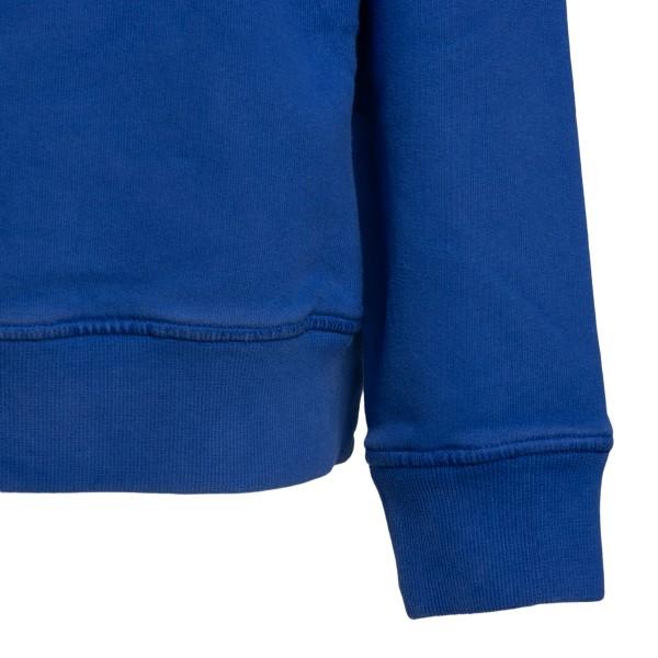 Felpa girocollo in blu elettrico con logo                                                                                                              STONE ISLAND STONE ISLAND
