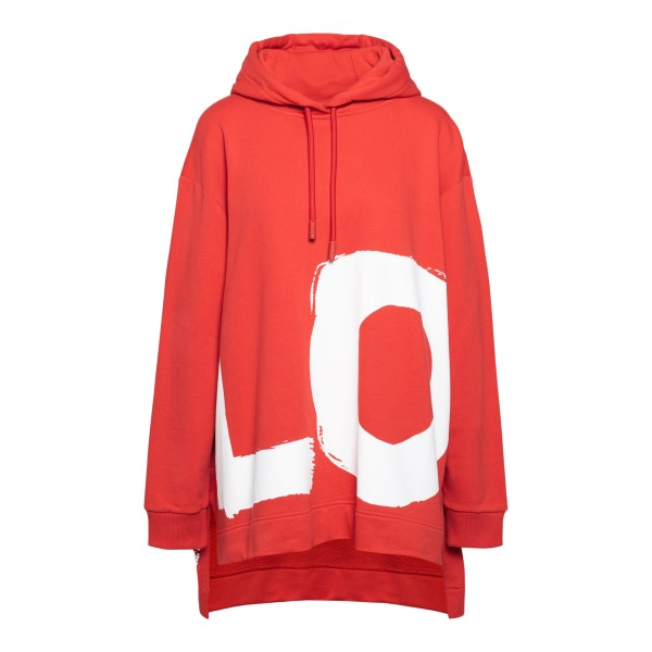 Oversized red sweatshirt with Love print                                                                                                              Burberry 8038129 back