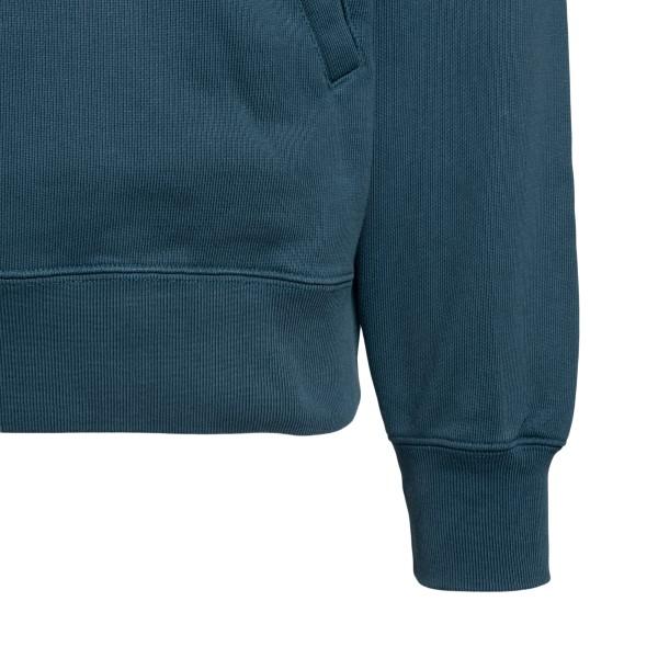 Petrol blue sweatshirt with brand name                                                                                                                 AMBUSH